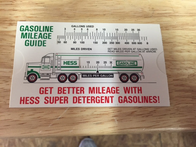 hess truck car gasoline mileage easy gas calculator guide on sale