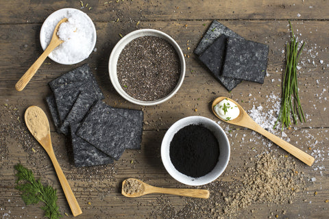 Belly Bump Crackers - Activated Charcoal & Murray River Gourmet Salt Flakes