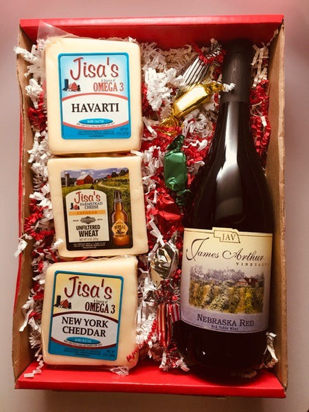 3 Cheese and Wine Box
