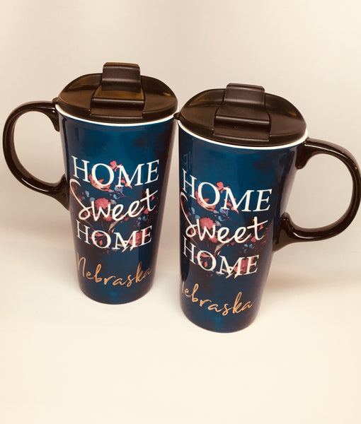 Home Sweet Home Nebraska Travel Mug