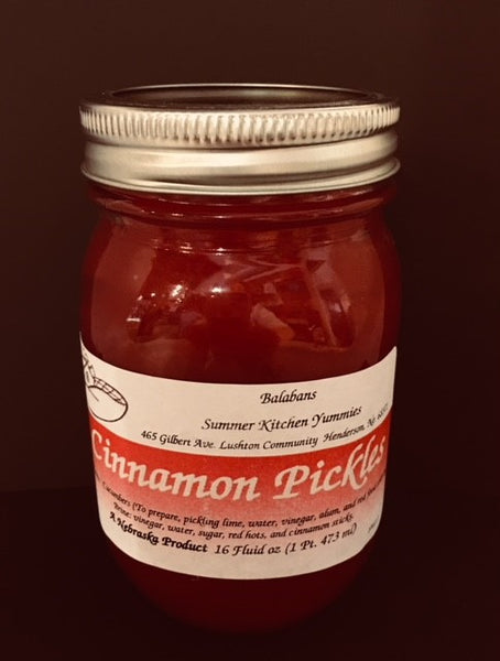 Balabans Summer Kitchen Yummies Cinnamon Pickles