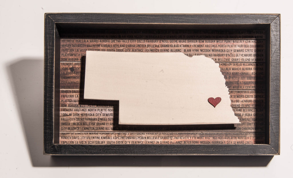 Nebraska Cut Out with Heart