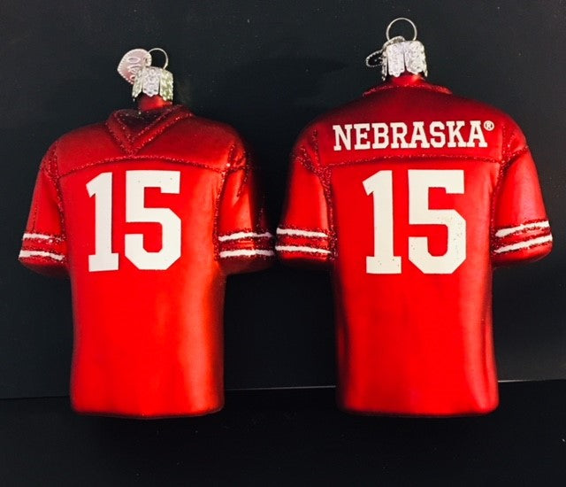 Old World Christmas Ornament U of Nebraska Jersey