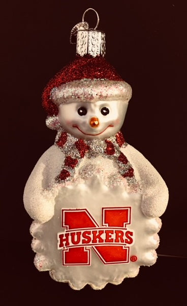 Old World Christmas Ornament U of Nebraska Snowman