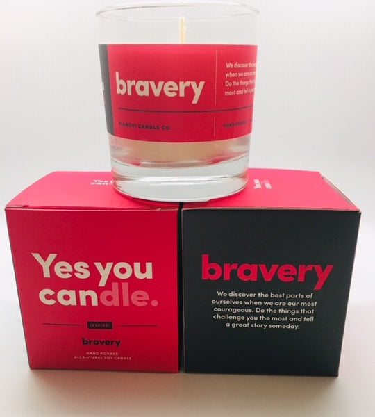 "Yes you ""can""dle   bravery"