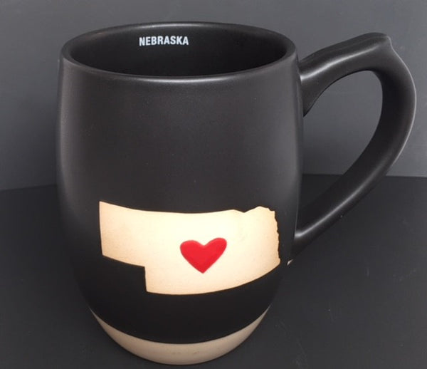 Nebraska with Heart Mug