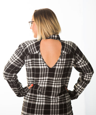 Cut Out Tunic - Plaid