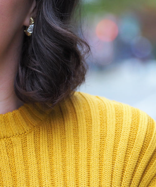 Ribbed Mustard Sweater