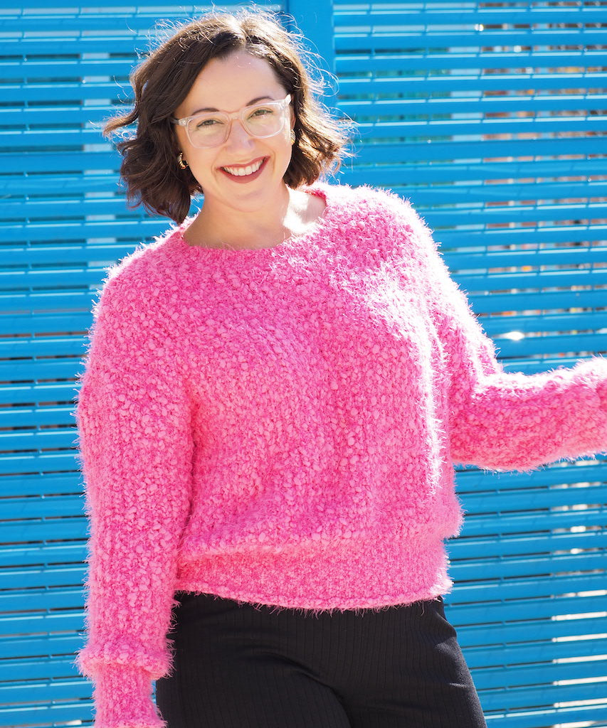 Neon Fuzzy Sweater