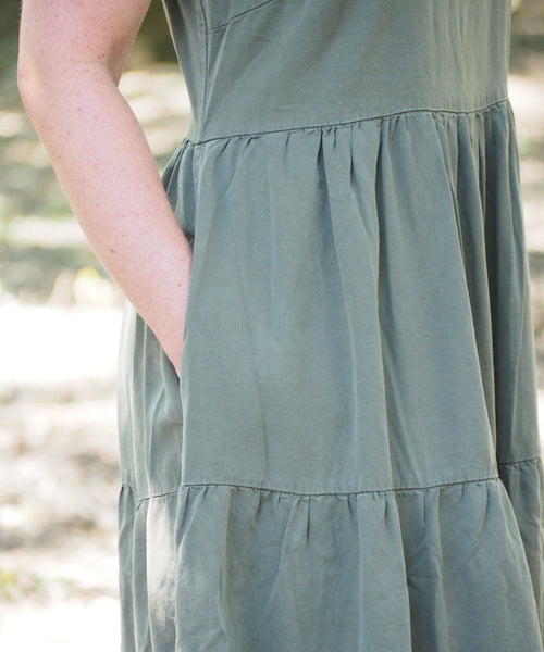 Olive Tiered Dress