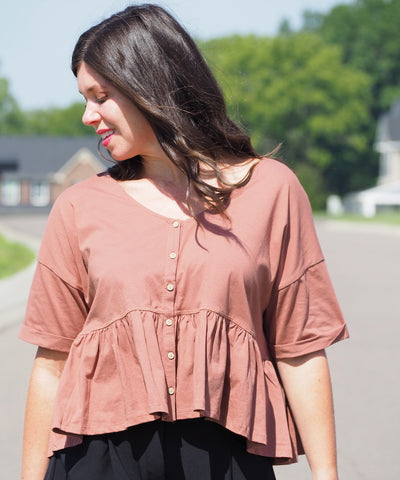 Peplum Swing Top