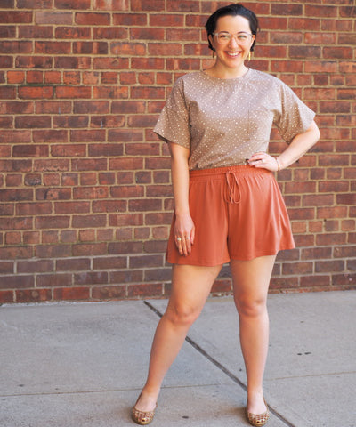 Terra Cotta Drawstring Short