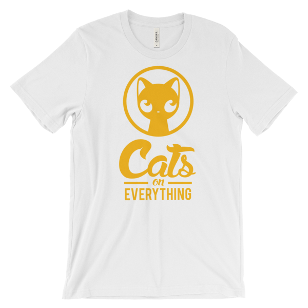 Yellow Logo Unisex t-shirt - catsoneverything - t shirt - hats