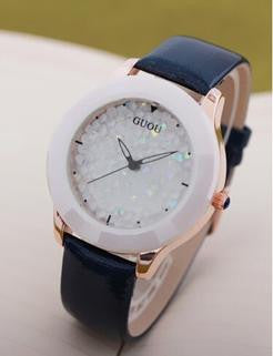 Brand Women Rhinestone Watches Austrian Crystal Ceramic Leather Band Women Dress Watches