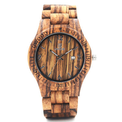 Analog quartz men women wood watch wood watch orologio worldwide