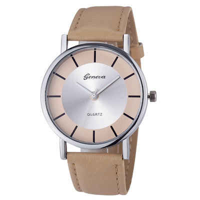 Best Selling, Women Men Watch Retro Leather Quartz Wrist Watch Business Simple Style Montre