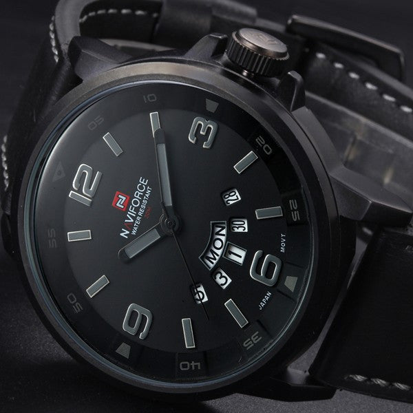 Business Quartz watch Men sport Watches Military Watches Men Corium Leather Strap army wristwatch