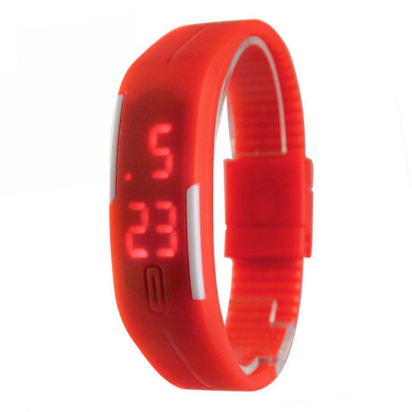 Candy Color Men's Women's Watch Rubber LED kids Watches Date Bracelet Digital Sports Wristwatch for student