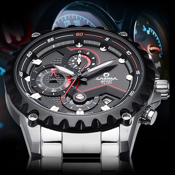CASIMA watches men charm luminous sport multi-function quartz wirst watch 100m #8203