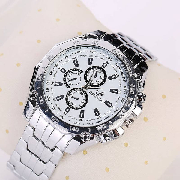 Business Women's Men's Watches Stainless Steel Wristwatch Men Electronics Quartz Watch