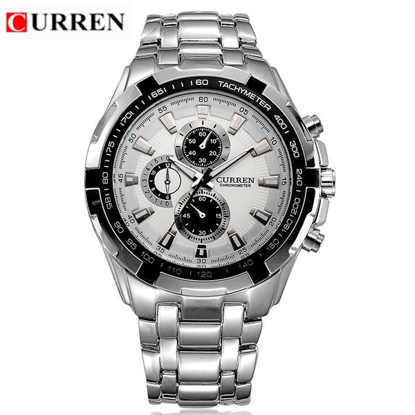 CURREN 8023 men Watches Brand Men Military Wrist Watches Full Steel Men Sports quartz Watch