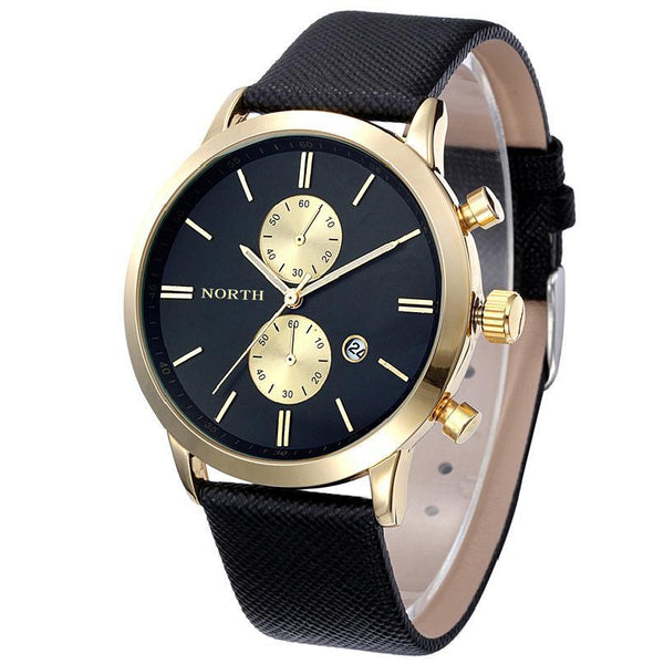 Attractive Men Date Leather Military Watch #30