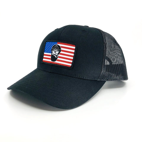 Warfighter Beard Flag Trucker Hat