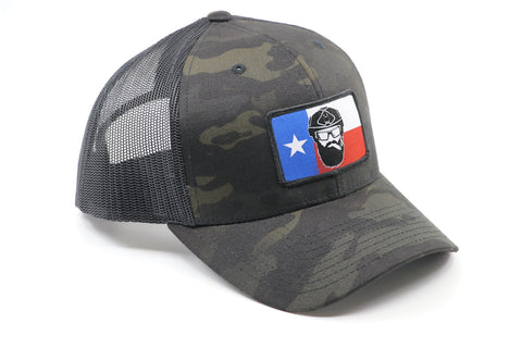 Warfighter Multicam Black Texas Flag Hat