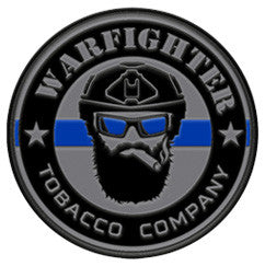 "Warfighter Tobacco ""Thin blue Line"" PVC Patch"
