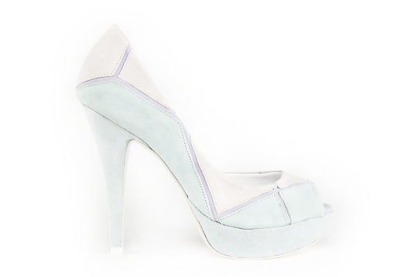 Leslie Light Green Peep Toes