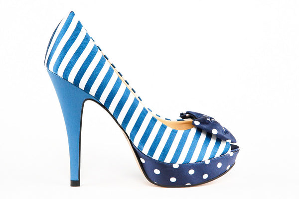 Jillian Navy Peep Toes