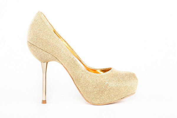 Julia Gold Pumps