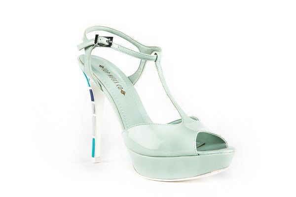 Crystal Light Green Sandals