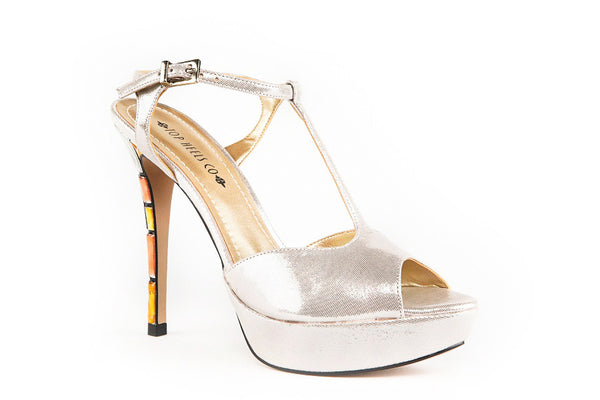 Crystal Silver Sandals