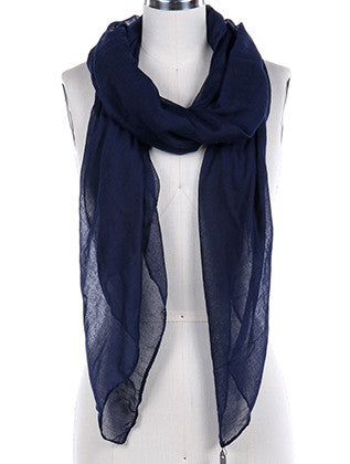 COLOR SHEER WOVEN SCARF - Sona Starz