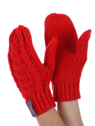 CABLE KNIT MITTENS GENERAL MERCHANDISE - Sona Starz