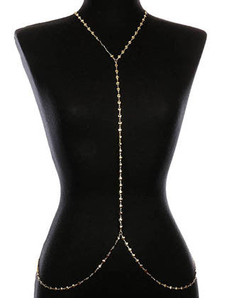 HEART METAL BEAD LINK BODY CHAIN - Sona Starz