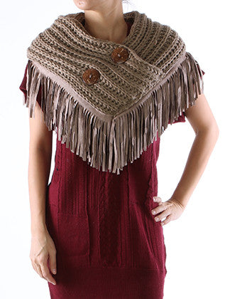 CABLE KNIT SINGLE WRAP SCARF - Sona Starz