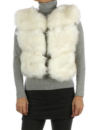 RUSSIAN STYLE RIBBED SOFT FUR VEST SCARF - Sona Starz
