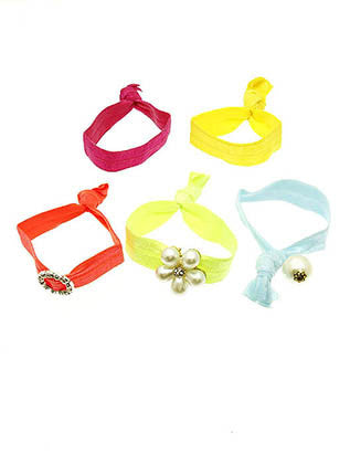 FLOWER HAIR TIES HAIR ACCESSORY - Sona Starz