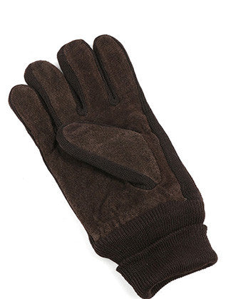 FLEECE LAYERED SUEDE KNITTED MENS GLOVES GENERAL MERCHANDISE - Sona Starz