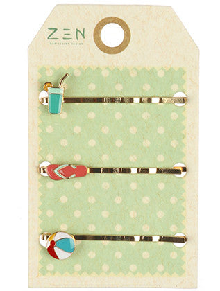 3 PC BEACH HAIR PIN HAIR ACCESSORY - Sona Starz