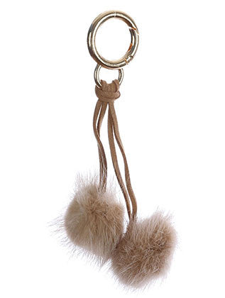 FAUX FUR POM POM BAG ACCESSORY KEY CHAIN - Sona Starz