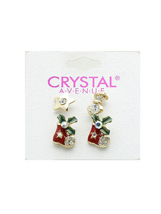 1 PAIR 2 PC CHRISTMAS EARRING - Sona Starz