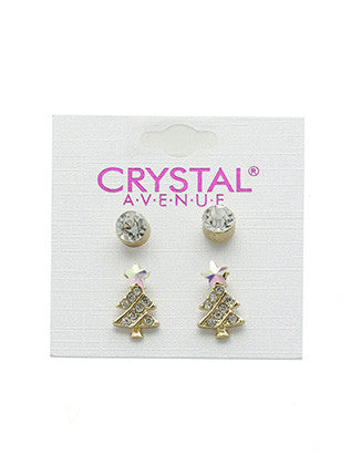 2 PAIR CHRISTMAS EARRING - Sona Starz