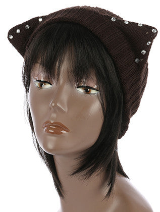 CAT EARS KNIT HEAD BAND HAIR ACCESSORY - Sona Starz