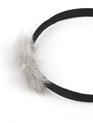 FAUX FUR RIBBON HEADBAND HAIR ACCESSORY - Sona Starz
