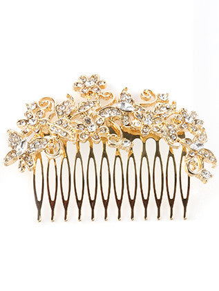 GLASS STONE BOUQUET HAIR COMB HAIR ACCESSORY - Sona Starz