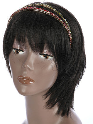 COLOR CRYSTAL STONE METAL HEADBAND HAIR ACCESSORY - Sona Starz