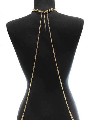 METAL CHAIN NATURAL STONE BODY CHAIN - Sona Starz